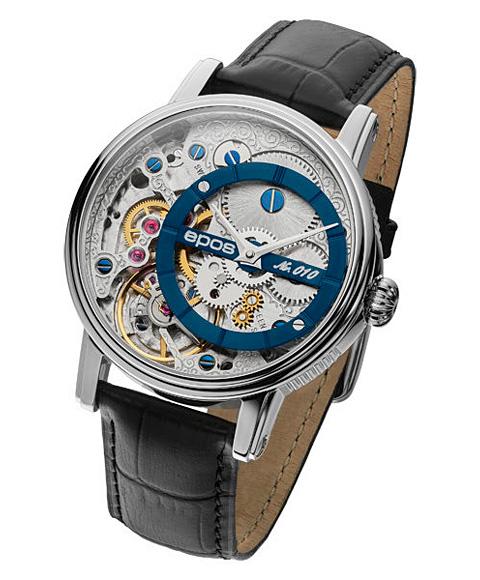 海外取寄せ エポス ヴェルソ 3435OHBL LTD999 腕時計 メンズ 自動巻 epos Verso Oeuvre d'art 限定モデル レザーストラップ ブルー系