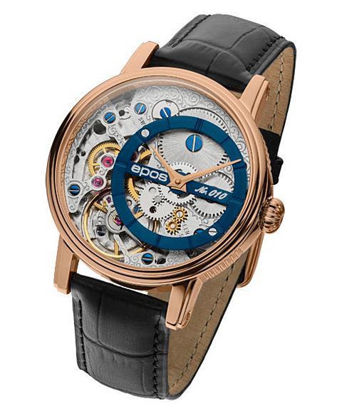 海外取寄せ エポス ヴェルソ 3435OHRGBL LTD999 腕時計 メンズ 自動巻 epos Verso Oeuvre d'art 限定モデル ゴールド レザーストラップ ブルー系