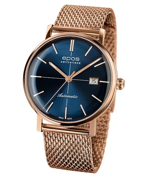 エポス オリジナーレ レトロ 3437RGBLM 腕時計 メンズ 自動巻 epos Originale Retro Look ゴールド ブルー系