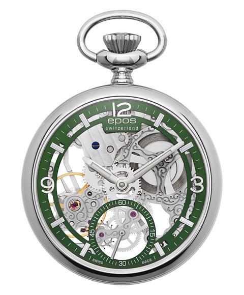 エポス スモール モダン スケルトン ポケットウォッチ 2003AGR 懐中時計 メンズ epos Small Modern Skeleton Pocket Watch クロノグラフ スケルトン 敬老の日 ギフト お祝い 還暦 喜寿 米寿
