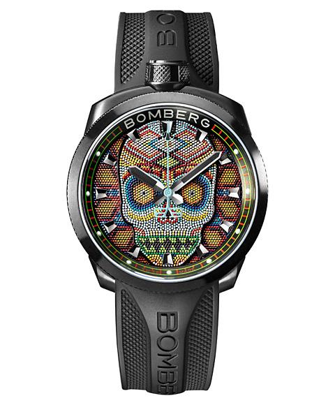 アウトレット ボンバーグ BOLT-68 スカルパール カラフル BS45H3PBA.SKP-1.3 腕時計 メンズ BOMBERG Skull Pearl Colorful
