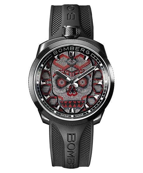 アウトレット ボンバーグ BOLT-68 スカルパール レッド BS45H3PBA.SKP-2.3 腕時計 メンズ BOMBERG Skull Pearl Red レッド系