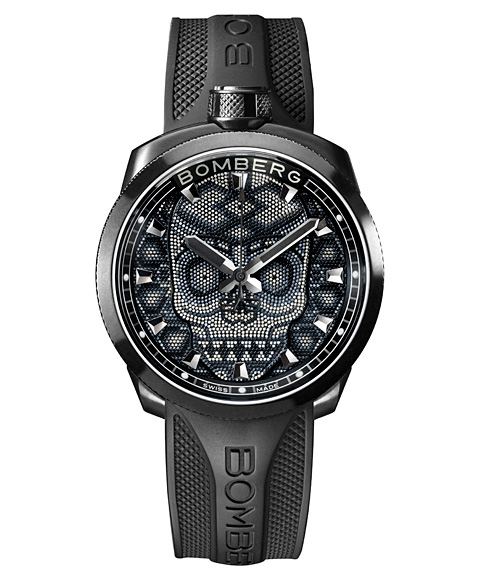 アウトレット ボンバーグ BOLT-68 スカルパール ブラック BS45H3PBA.SKP-3.3 腕時計 メンズ BOMBERG Skull Pearl Black