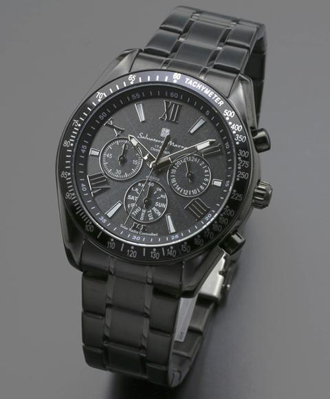 Salvatore Marra サルバトーレマーラ SM15116-BKBKSV メンズ 腕時計 物品 メタルブレス 物品