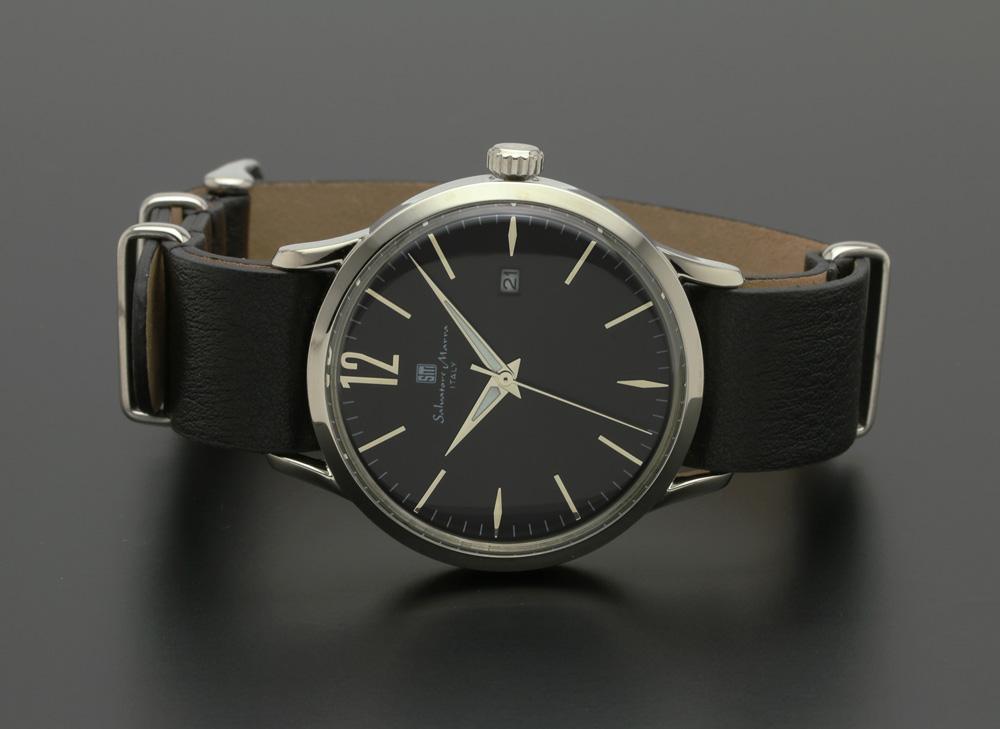 サルバトーレマーラ SM17116-SSBK 腕時計 メンズ Salvatore Marra レザーストラップ