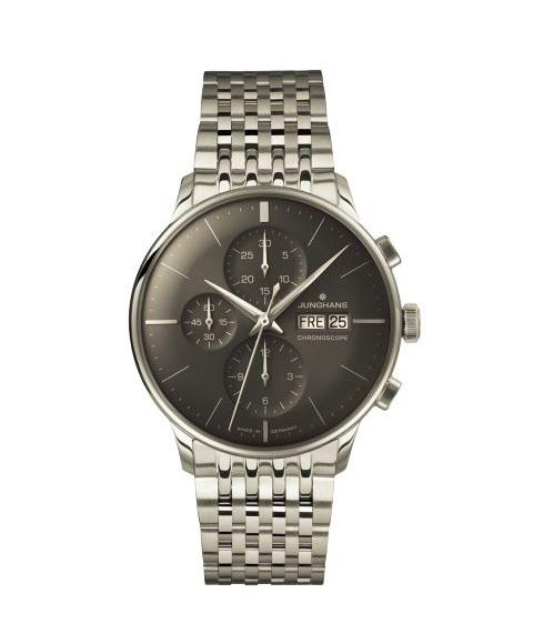 特価品 ユンハンス マイスタークロノスコープ 027 4324 44 ドイツ語表記 自動巻き クロノグラフ 腕時計 メンズ JUNGHANS MEISTER CHRONOSCOPE 027/4324.44 自動巻 メタルブレス