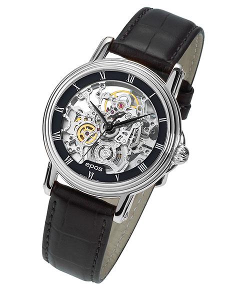 エポス エモーション クラシックスケルトン 3336 腕時計 メンズ 自動巻 epos Emotion Classic Skeleton スケルトン レザーストラップ
