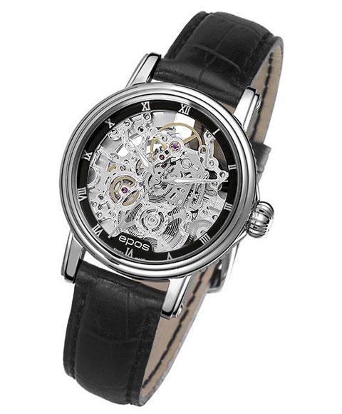エポス エモーション クラシックスケルトン 4390SKRBK 腕時計 レディース 自動巻 epos Emotion Classic Skeleton スケルトン レザーストラップ