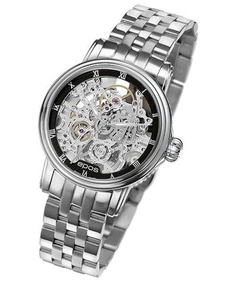 エポス エモーション クラシックスケルトン 4390SKRBKM 腕時計 レディース 自動巻 epos Emotion Classic Skeleton スケルトン メタルブレス