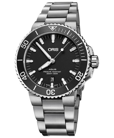 オリス アクイス デイト 73377304124M 腕時計 メンズ ORIS Aquis Date 733 7730 4124M ダイバーズ メタルブレス
