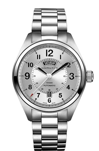 即納可能! ハミルトン Hamilton 腕時計 H70505153 カーキ フィールド デイデイト 自動巻 メタルブレス