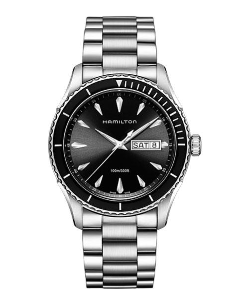 ハミルトン ジャズマスター H37511131 腕時計 メンズ HAMILTON JAZZMASTER SEAVIEW ダイバーズ クロノグラフ メタルブレス