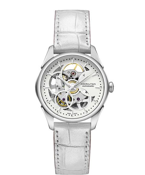 ハミルトン ジャズマスター ビューマチック H32405811 腕時計 レディース HAMILTON JAZZMASTER VIEWMATIC 自動巻 レザーストラップ ホワイト系