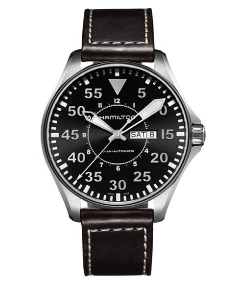 ハミルトン カーキ アビエーション パイロット H64715535 腕時計 メンズ HAMILTON KHAKI AVIATION PILOT 自動巻 レザーストラップ ブラウン系
