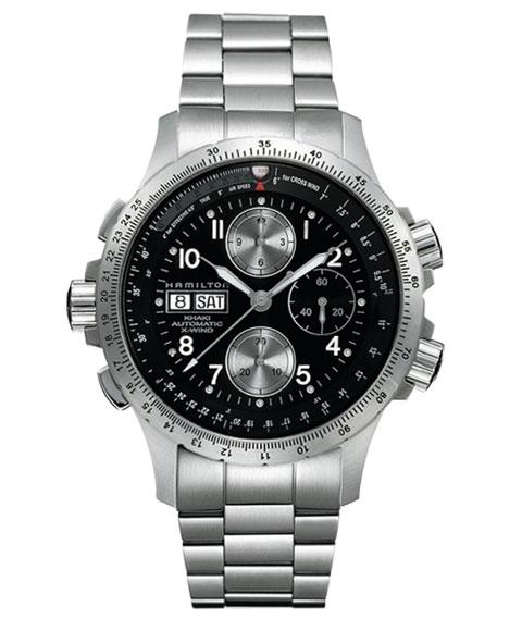 ハミルトン カーキ アビエーション X-ウィンド H77616133 腕時計 メンズ HAMILTON KHAKI AVIATION X WIND パイロット クロノグラフ 自動巻 メタルブレス