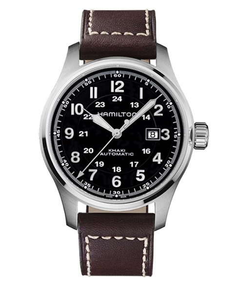 ハミルトン カーキ フィールド H70625533 腕時計 メンズ HAMILTON KHAKI FIELD 自動巻 レザーストラップ