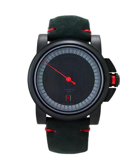 シャウボーグ グノモニク GTレッドカップ GT RED CUP 腕時計 メンズ SCHAUMBURG GNOMONIK RED CUP クロノグラフ 自動巻 レザーストラップ