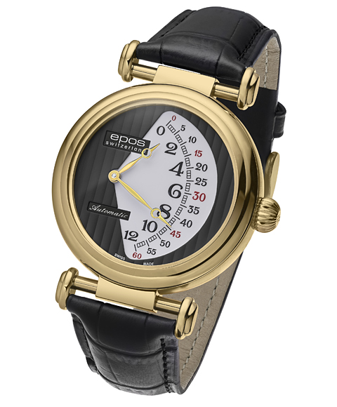 エポス オリジナーレ ダブルレトログラード リミテッドエディション 3431YGBKWH LTD888 腕時計 メンズ 自動巻 epos クロノグラフ 限定モデル ゴールド レザーストラップ