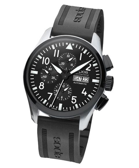 海外取り寄せ(納期:お問合せください) エポス スポーティブ パイロット クロノグラフ 3433SBKABKR 腕時計 メンズ 自動巻 epos クロノグラフ