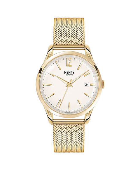 ヘンリーロンドン ウェストミンスター HL39-M-0008 腕時計 メンズ レディース ユニセックス HENRY LONDON WESTMINSTER ゴールド メタルブレス