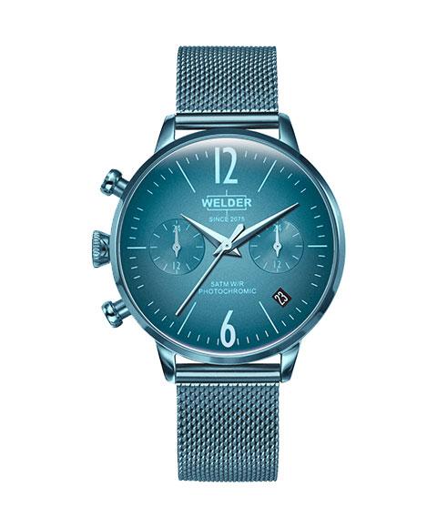 ウェルダー ムーディ WWRC730 腕時計 レディース ユニセックス WELDER MOODY DUAL TIME 36MM ブルー系