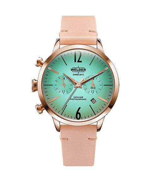 ウェルダー ムーディ WWRC100 腕時計 レディース ユニセックス WELDER MOODY DUAL TIME 38MM ゴールド レザーストラップ