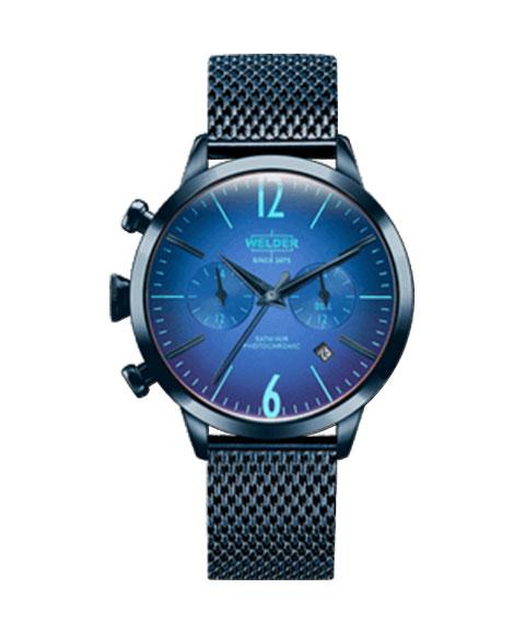 ウェルダー ムーディ WWRC603 腕時計 レディース ユニセックス WELDER MOODY DUAL TIME 38MM ブルー系