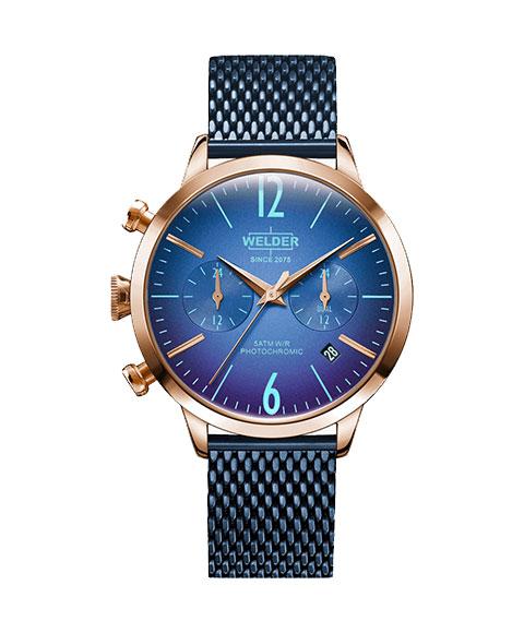 ウェルダー ムーディ WWRC631 腕時計 レディース ユニセックス WELDER MOODY DUAL TIME 38MM ゴールド ブルー系