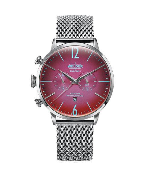 ウェルダー ムーディ WWRC404 腕時計 メンズ ユニセックス WELDER MOODY DUAL TIME 45MM メタルブレス