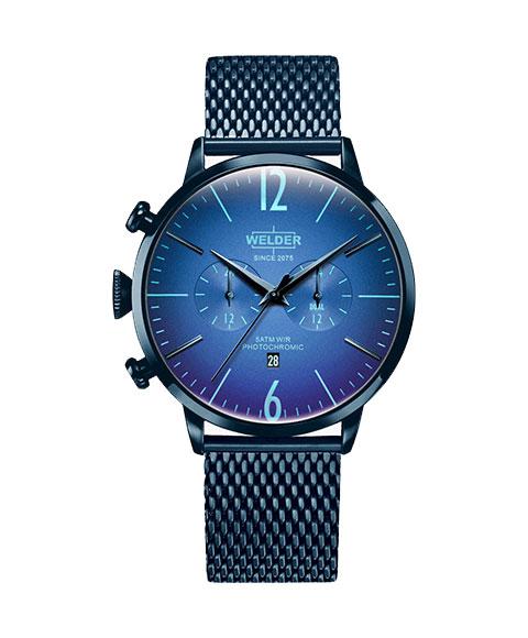 ウェルダー ムーディ WWRC414 腕時計 メンズ ユニセックス WELDER MOODY DUAL TIME 45MM ブルー系