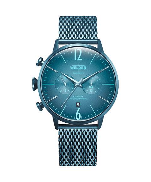 ウェルダー ムーディ WWRC416 腕時計 メンズ ユニセックス WELDER MOODY DUAL TIME 45MM ブルー系