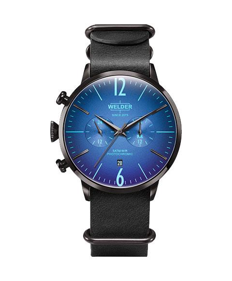 ウェルダー ムーディ WWRC505 腕時計 メンズ ユニセックス WELDER MOODY DUAL TIME 45MM レザーストラップ
