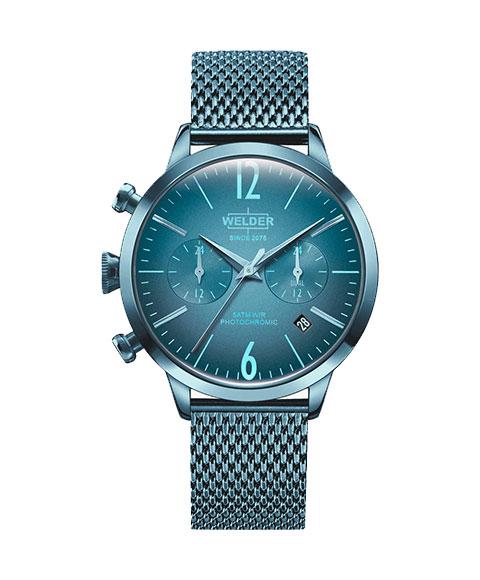 ウェルダー ムーディ WWRC612 腕時計 レディース ユニセックス WELDER MOODY DUAL TIME 38MM ブルー系
