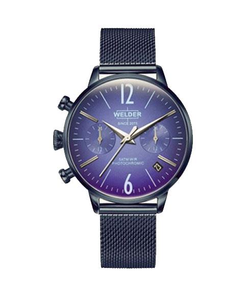 ウェルダー ムーディ WWRC712 腕時計 レディース ユニセックス WELDER MOODY DUAL TIME 36MM ブルー系