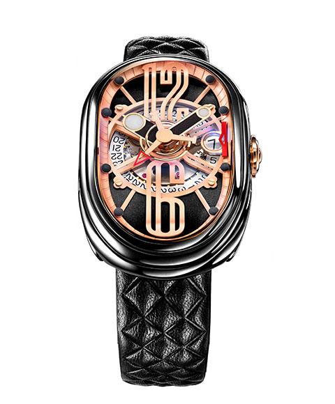 グリモルディ G.T.O. BKSHBK612PK 腕時計 メンズ GRIMOLDI Gran Tipo Ovale 自動巻 レザーストラップ