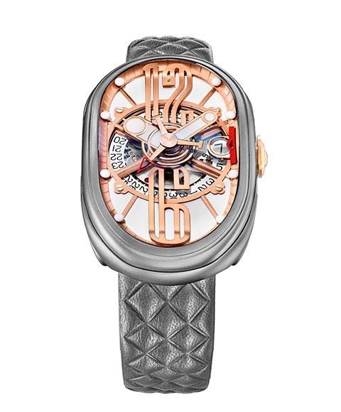 グリモルディ G T OSSMTWH612PK 腕時計 メンズ GRIMOLDI Gran Tipo Ovale 自動巻 レザーストラップHID9E2