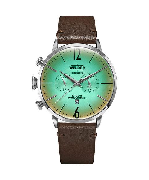 ウェルダー ムーディ WWRC302 腕時計 メンズ WELDER MOODY DUAL TIME 45MM レザーストラップ ブラウン系