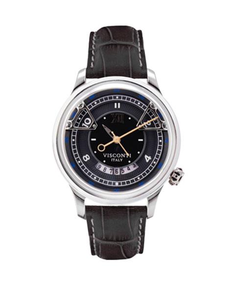 アウトレット 62%OFF! ヴィスコンティ オペラ ブラック KW23-01 腕時計 自動巻 メンズ ビスコンティ VISCONTI OPERA BLACK レザーストラップ