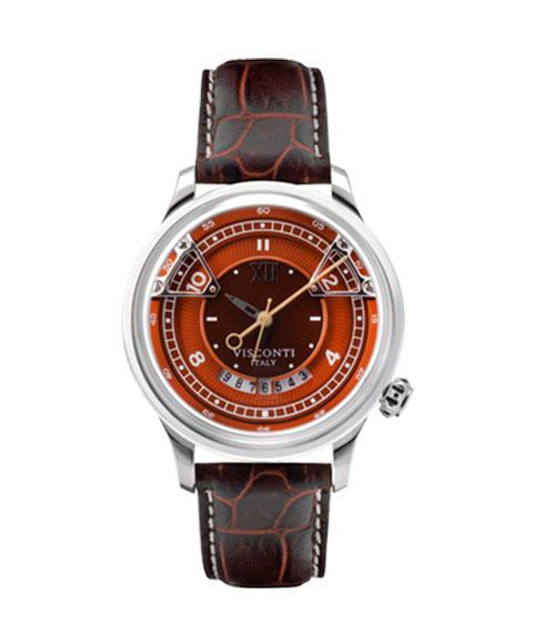 アウトレット 62%OFF! ヴィスコンティ オペラ オレンジ KW23-02 腕時計 自動巻 メンズ ビスコンティ VISCONTI OPERA ORANGE レザーストラップ