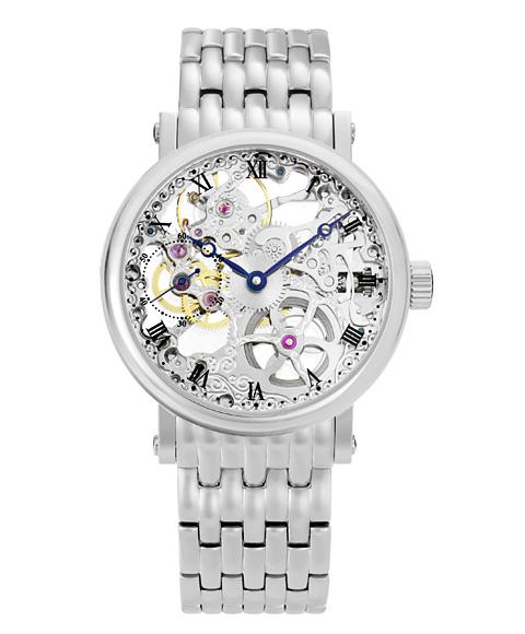 アルカフトゥーラ メカニカルスケルトン P0110201M 手巻 腕時計 メンズ ARCAFUTURA メタルブレス
