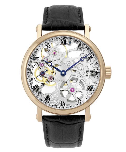 アルカフトゥーラ ARCAFUTURA 腕時計 メカニカルスケルトン 激安 激安特価 送料無料 P0110201RGBK レザーストラップ メンズ 直輸入品激安 ゴールド 手巻