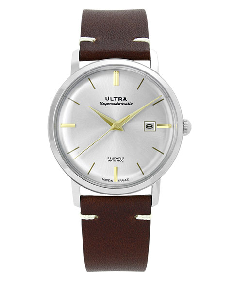 ウルトラ スーパーオートマティック US112BW 腕時計 メンズ 自動巻き ULTRA SUPERAUTOMATIC レザーストラップ ブラウン系