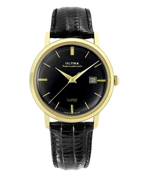 ウルトラ スーパーオートマティック US232JR 腕時計 メンズ 自動巻き ULTRA SUPERAUTOMATIC ゴールド レザーストラップ