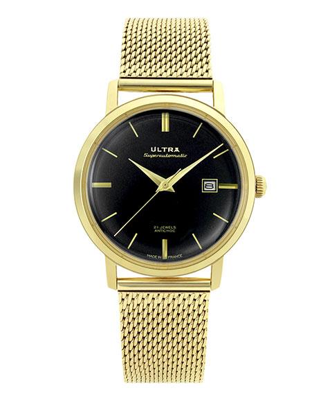ウルトラ スーパーオートマティック US232OM 腕時計 メンズ 自動巻き ULTRA SUPERAUTOMATIC クロノグラフ ゴールド メタルブレス