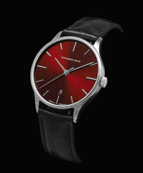 シャウボーグ クラッシコエディション Classoco 36 RD (36mm) レッド  腕時計 レディース メンズ ユニセックス 自動巻 SCHAUMBURG クラシコ クラシック レザーストラップ