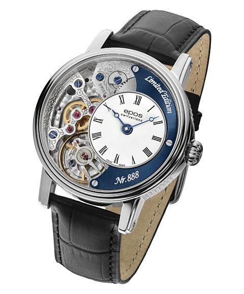 エポス ヴァーソ2 3435HSKRBL LTD888 腕時計 メンズ 自動巻 epos Verso 2 Oeuvre d'art クロノグラフ 限定モデル レザーストラップ ブルー系