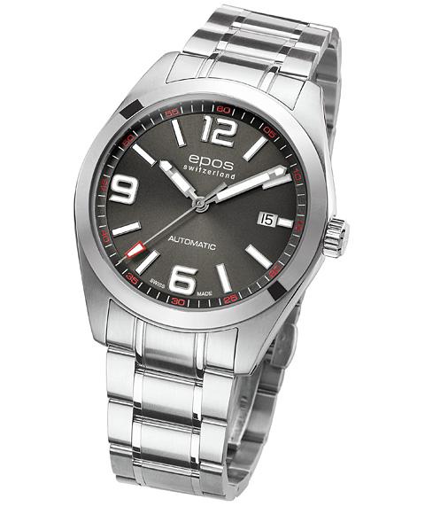 エポス スポーティブ スポーツ 3411AGYM 腕時計 メンズ 自動巻 epos SPORTIVE SPORT クロノグラフ メタルブレス