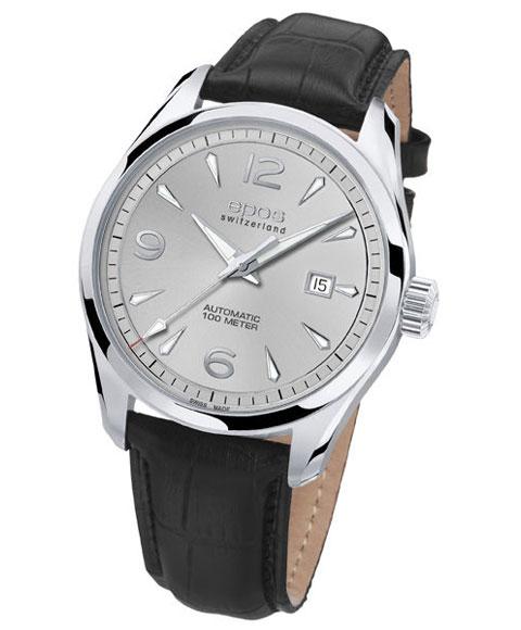 エポス パッション 3401AISL 自動巻き 腕時計 メンズ epos PASSION レザーストラップ