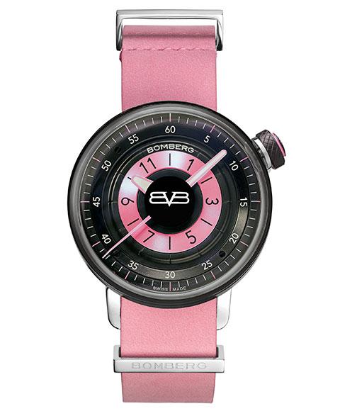 ボンバーグ BB-01 CT38H3PBA.05-1.9 腕時計 レディース クォーツ BOMBERG ピンク & ブラック レザーストラップ