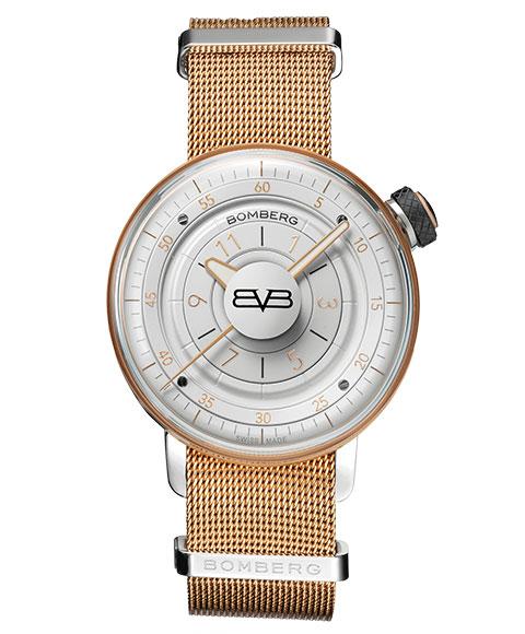 アウトレット ボンバーグ BB-01 CT38H3PPK.07-2.9 腕時計 レディース クォーツ BOMBERG ホワイト & ゴールド ゴールド メタルブレス